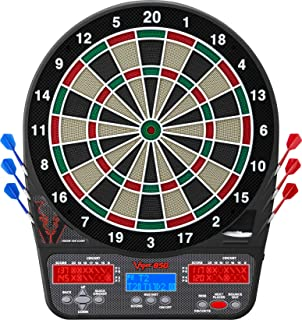 Viper 850 Electronic Dartboard, Ultra Bright Triple Score Display, 50 Games with 470 Scoring Variations, Regulation Size Target-Tested-Tough Segments Made from High Grade Nylon, Includes 6 Darts
