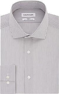 Calvin Klein Men's Dress Shirt Non Iron Slim Fit Stretch Stripe