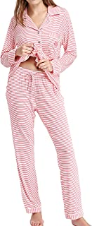 N NORA TWIPS Pajamas Set Long Sleeve Sleepwear Womens Button Down Nightwear Soft Pj Lounge Sets XS-XXL