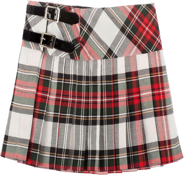 ILuv Girls Pure Wool Billie Kilt Skirt in Stewart Dress