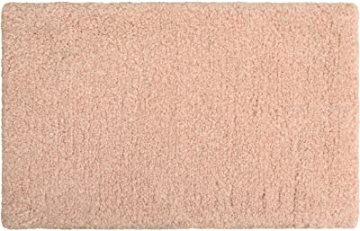 Laura Ashley Rachel Lurex Bath Rug, 20 in. x 34 in, Blush