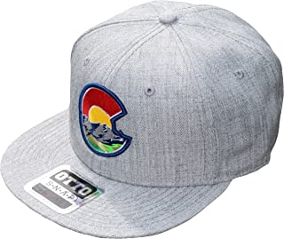 Colorado Flag C Nature Flat Bill Snapback Hat