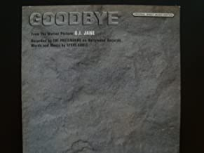 Goodbye / the Pretenders / Piano Vocal Guitar / from