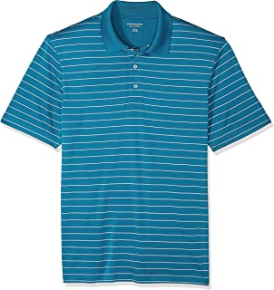 Amazon Essentials Men's Regular-Fit Quick-Dry Stripe Golf Polo Shirt, Dark Teal, X-Small