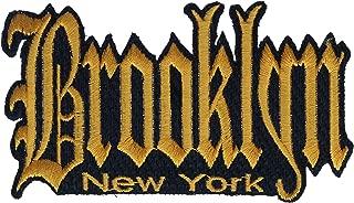 Brooklyn New York Gold Grafitti Script 4.5x2 Inch Patch PPMK1924