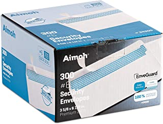 300 #6 3/4 Security Tinted Self-Seal Envelopes - No Window, EnveGuard, Size 3-5/8 X 6-1/2 Inches - White - 24 LB - 300 Cou...