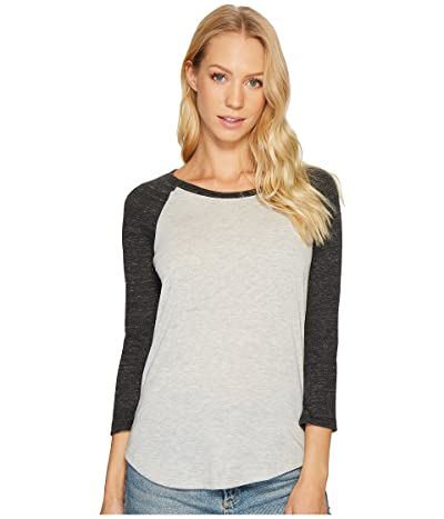 Alternative Jersey Baseball T-Shirt (Eco Oatmeal/Eco Black) Women