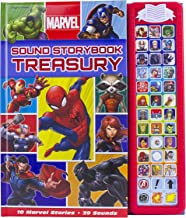 Marvel Superhero Sound Storybook Treasury- Includes Characters from Avengers Endgame - Play-a-Sound - PI Kids