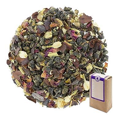 """Núm. 1307: Té verde """"Bayas de goji"""" - hojas sueltas - 250 g - GAIWAN® GERMANY - oolong verde de China, cacao, bayas de goji, regaliz, pétalos de Jazmín y rosa"""