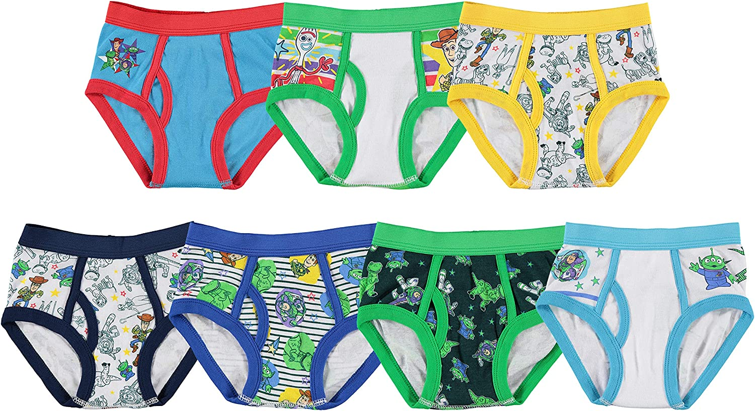 Toy Story boys Toy Story Brief Multipack UNDERWEAR, Toy 7pack, 2-3T US