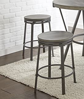 Steve Silver Counter Stool in Gray - Set of 2