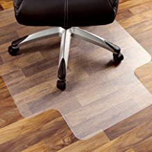 """Marvelux 47"""" x 53"""" Heavy Duty Polycarbonate (PC) Lipped Chair Mat for Hard Floors 