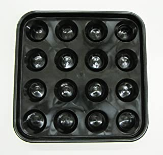 Iszy Billiards Standard Pool Ball Tray for 16 Balls (2 1/4-Inch, Black)
