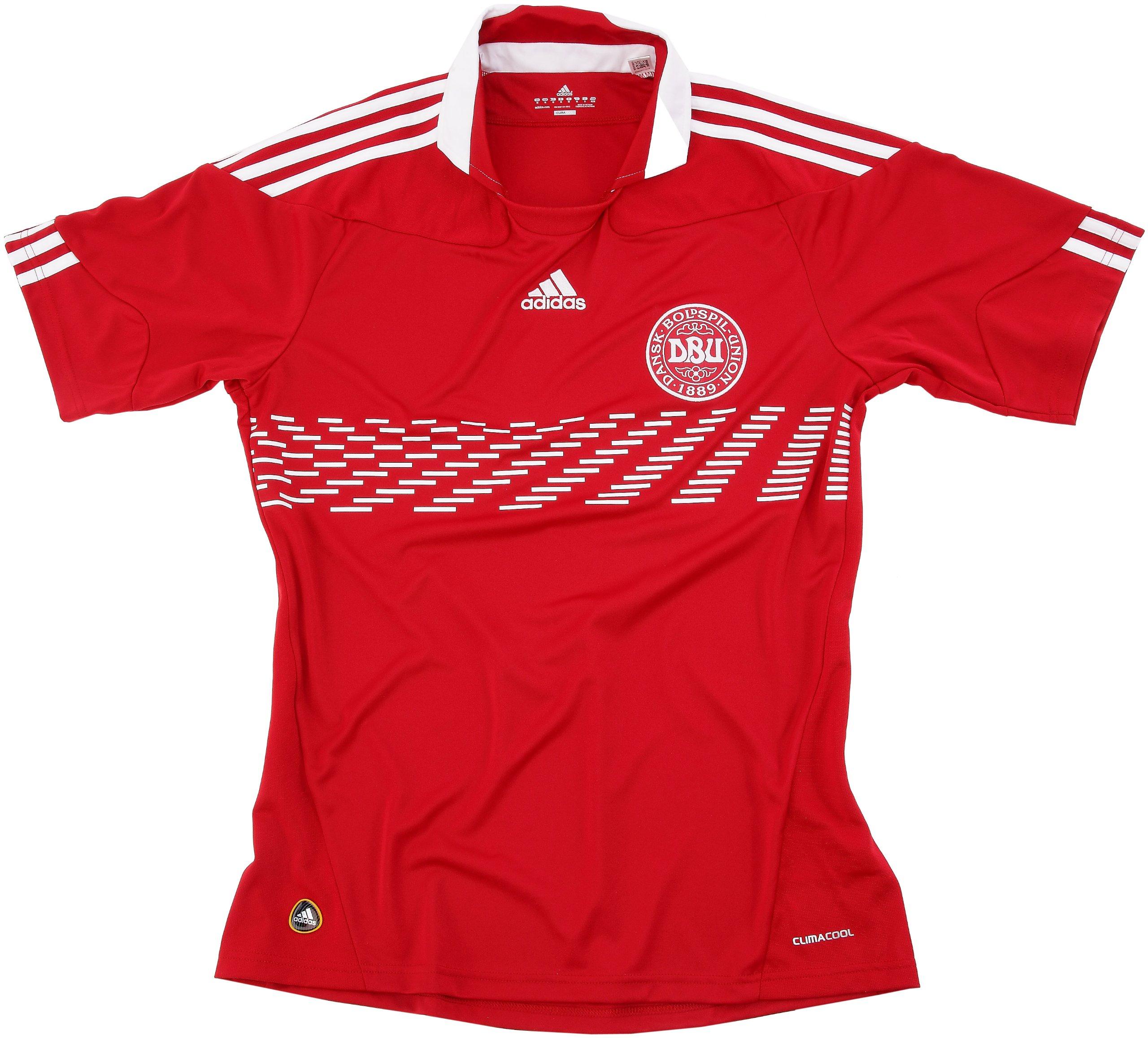 adidas – Camiseta de fútbol selección Dinamarca DBU hogar Rojo eléctrico/Color Blanco, Hombre, Rouge electrique/Blanc, L: Amazon.es: Deportes y aire libre