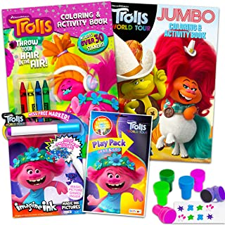 DreamWorks Trolls Coloring and Activity Set Ultimate Bundle ~ Trolls Activity Book, Mess-Free Coloring Books, Stickers, an...