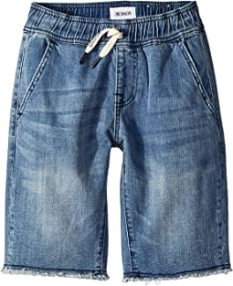 Denim Pull-On Shorts in Dry Blue Wash (Big Kids)