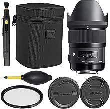 Sigma35mm f/1.4 DG HSM Art Lens for Canon DSLR Cameras + Essential Bundle Kit + 1 Year Warranty - International Version (No Warranty)