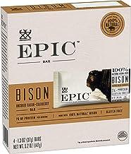 EPIC Bison Bacon Cranberry Bars 4 Count Box 1.3oz Bars