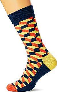 BNWT Happy Socks Mountain Lion coton peigné Chaussettes Noir Taille 7 1//2-11 1//2