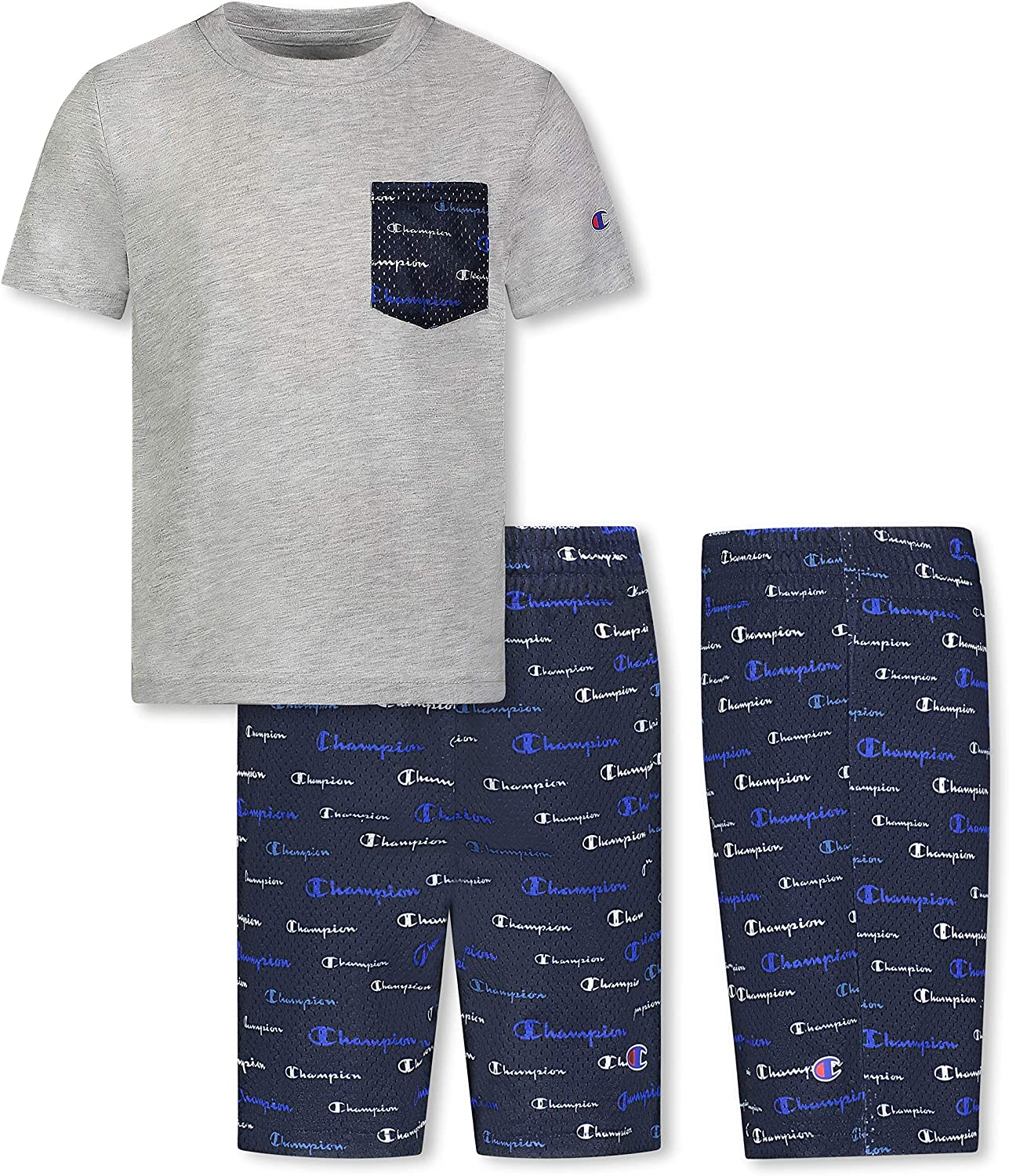 Champion Little latest Boys 2-7 Short Sets French Terry Shorts Mesh and Free Shipping New