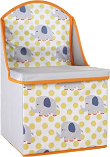 Premier Housewares Children s Storage Box Seat  Elephant Design  Wood Grey