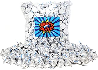 CrazyOutlet Pack - Hershey's Kisses Silver Milk Chocolate Candy, 2 lbs