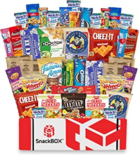 Care Package for College Students Snack Box (40 Count) Great For Halloween, Exams, Father's Day, Finals, Dorms, Deployment, Military, Office Snacks and Gift Baskets From Snack Box