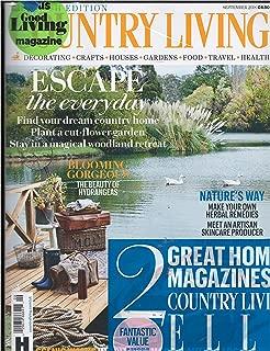 Country Living / Elle Decoration (UK Edition) Magazine 2 Pack September 2018