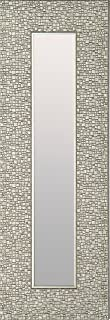 Mirrorize IMM105 Narrow Designer Accent Mosaic Silver Frame, 9.25 27.75 (Inner 4 22.5-Inch), Set of 3, 1.5DX9.25HX27.75W