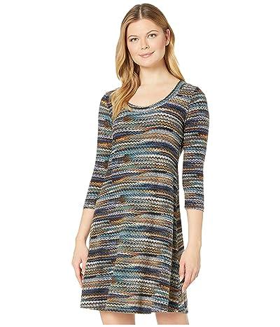 Karen Kane 3/4 Sleeve A-Line Dress (Print) Women