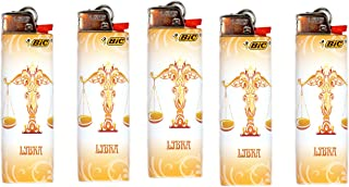 Bic Horoscope Lighters Libra 5 Pack Collectable Design
