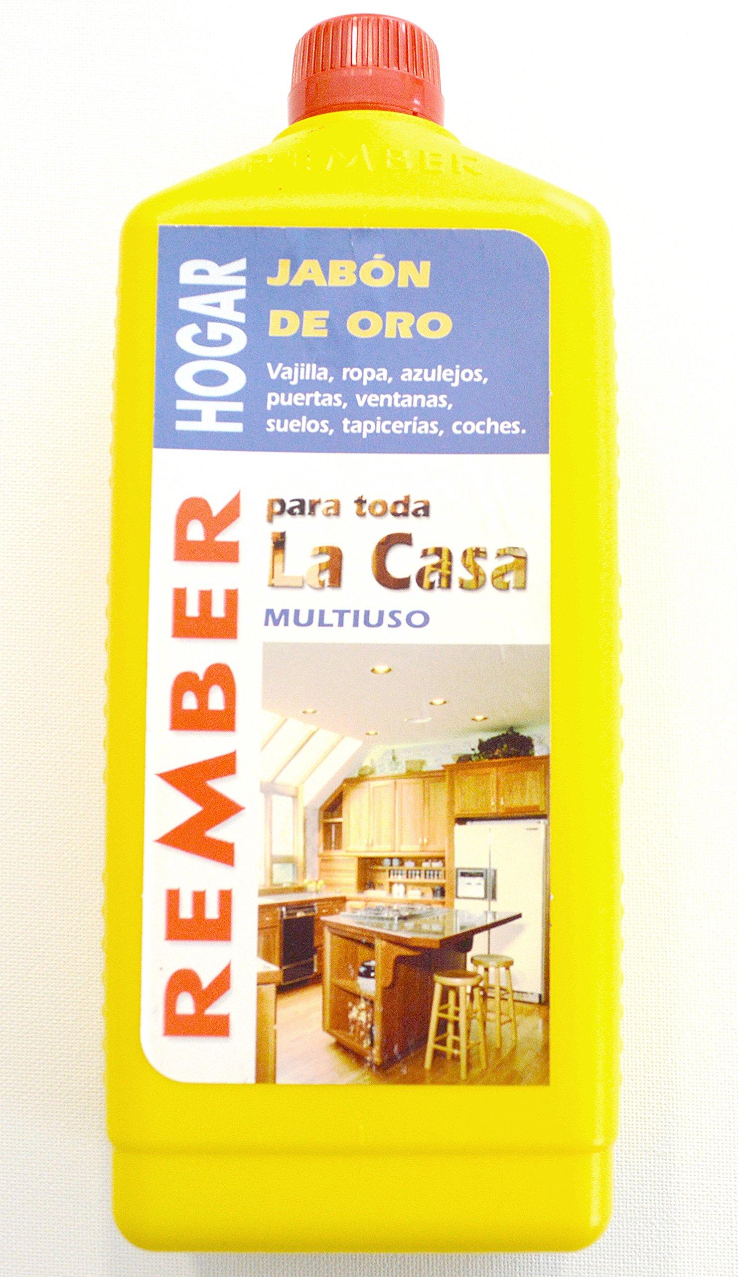 rember hogar concentrado biodegradable Jabón Limpiador/quitamanchas/oro Jabón 1 L: Amazon.es: Bricolaje y herramientas