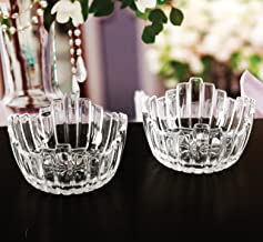 Circleware 57256 Carina Small Glass Serving Mixing Bowls Set of 4, Glassware for Fruits Salad, Beverage, Ice Cream, Dessert, Food and Best Selling Home & Kitchen Decor Gifts, 4.96