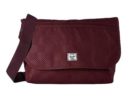 Herschel Supply Co. Grade (Plum Dot Check) Messenger Bags