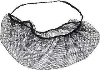 100 pieces Disposable Nylon Honeycomb Royal Beard Protector nets, Latex Free. (Black)