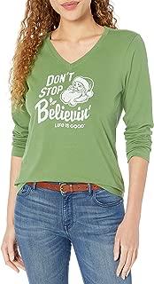 Womens Crusher V-Neck Longsleeve T-Shirt