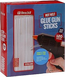 Paquete de recambio de barras de pegamento caliente para pistola:  Paquete de 120 de 11 mm x 255 mm para usar en pistolas de manualidades de fusión en caliente más grandes.