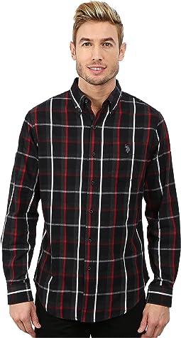 Button Down Plaid Twill Shirt