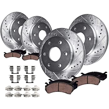 OE Replacement Rotors w//Ceramic Pads F+R 2002 Chevy Tahoe See Desc.