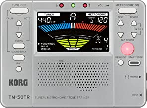 Korg TM50TRSL Trainer Metronome Tuner, Silver