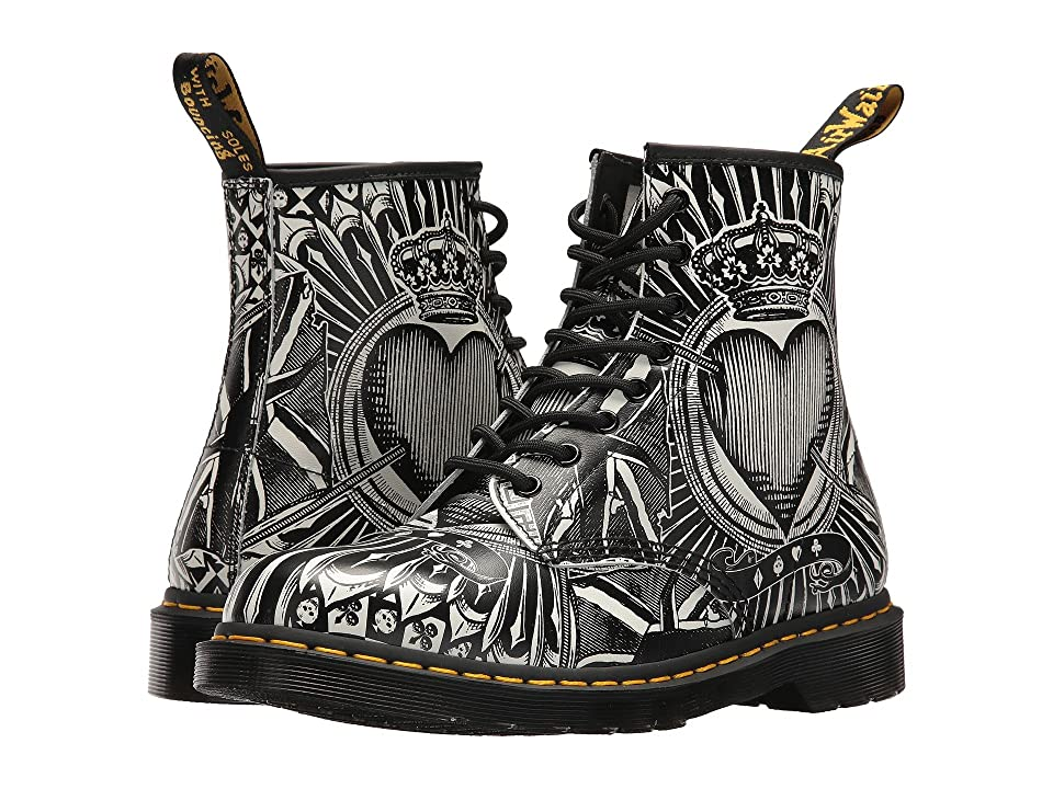 Dr. Martens 1460 (Egret Playing Card Print Backhand) Lace-up Boots