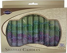 Majestic Giftware SC-SHSR-G Safed Shabbat Candle, 5-Inch, Sunrise Green, 12-Pack