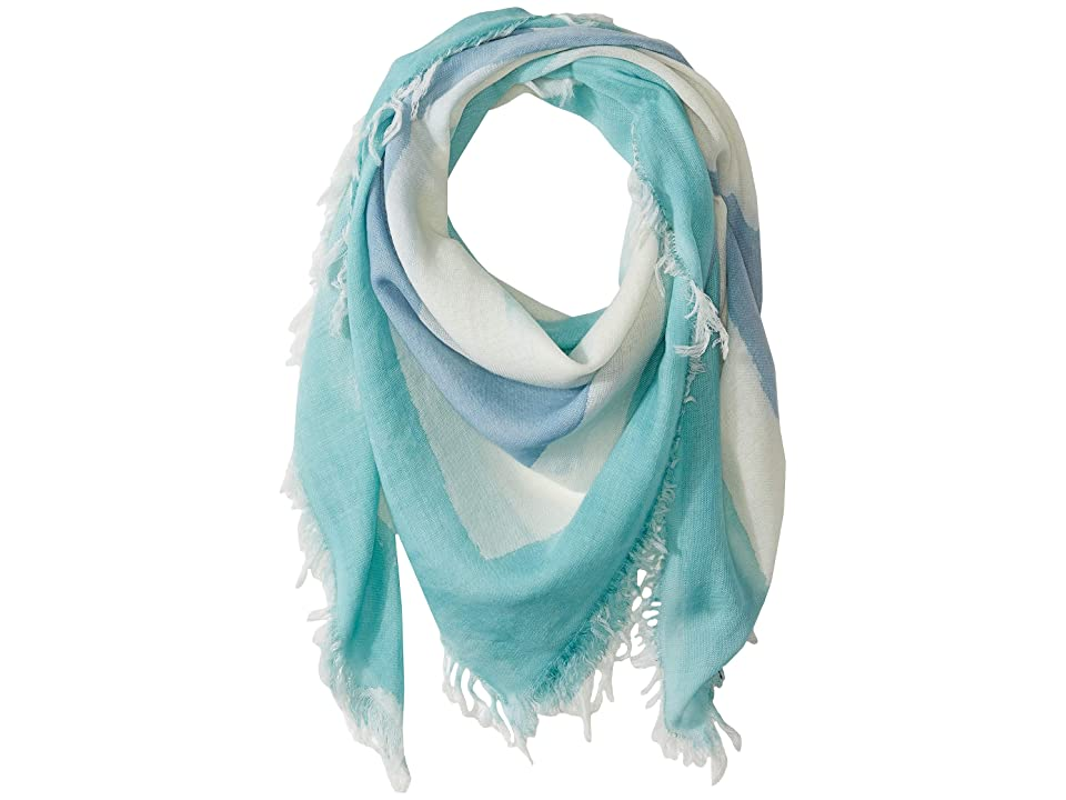Eileen Fisher Hand Painted Wool Scarf (Shining Water) Scarves, Blue