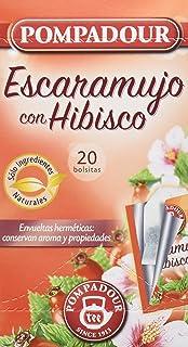 Pompadour Té Infusion Escaramujo con Hibisco - 20 bolsitas - [Pack de 5]