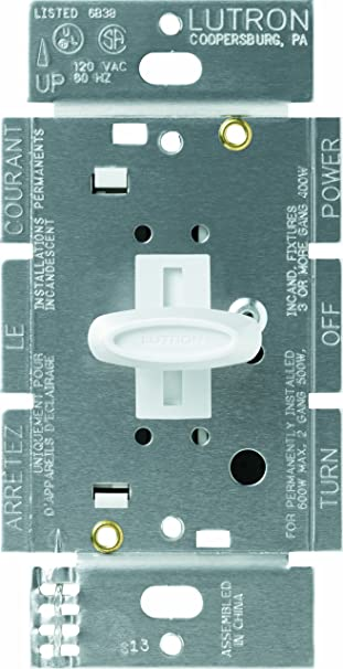 Details about  /Lutron Glyder GL-600-PH-DK Atenuador  Dimmer White /& Ivory Button 2PK Lot D31