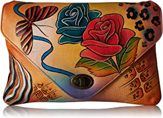 Anna by Anuschka Genuine Leather Envelope Clutch Bag | Hand-Painted Original Artwork