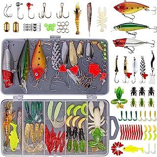 GOANDO 78Pcs Fishing Lures Kit for Freshwater Bait Tackle...