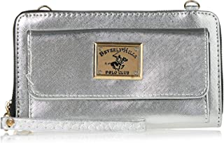 Beverly Hills Polo Club Clutch for Women- Silver