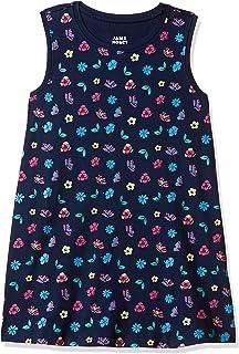 Amazon Brand - Jam & Honey Girl's Knit A-Line Knee-Length Dress