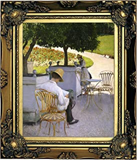 Historic Art Gallery The The Orange Trees 1878 by Gustave Caillebotte Framed Canvas Print, Size 8x10, Gold
